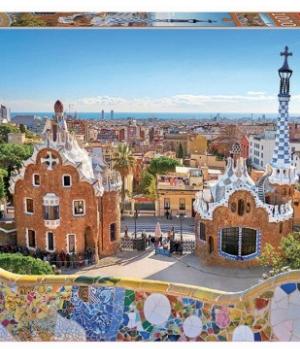 Barcelona View from Park - puzzel 1000 stuks - Educa 17966