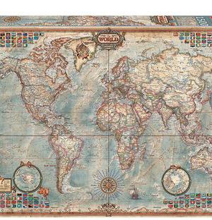 Wereldkaart - puzzel 1500 stuks - Educa 16005