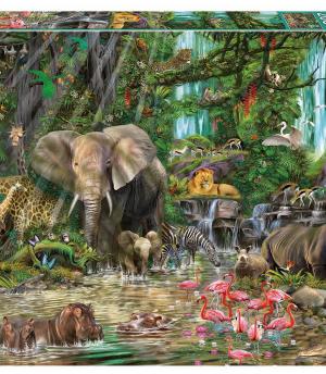 Afrikaanse Jungle - puzzel 2000 stuks - Educa 16013