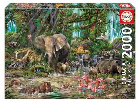 Afrikaanse Jungle – puzzel 2000 stuks – Educa 16013