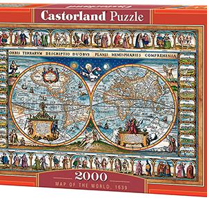 Map of the world - puzzel 2000 stuks - Castorland 733-2