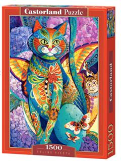 Feline Fiesta - puzzel 1500 stuks - Castorland 448-2