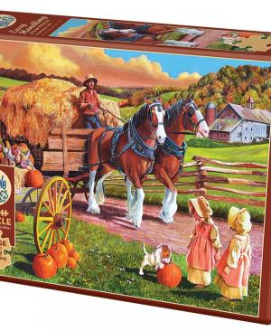 Hay Wagon - puzzel 275 stuks - Cobble Hill 88010