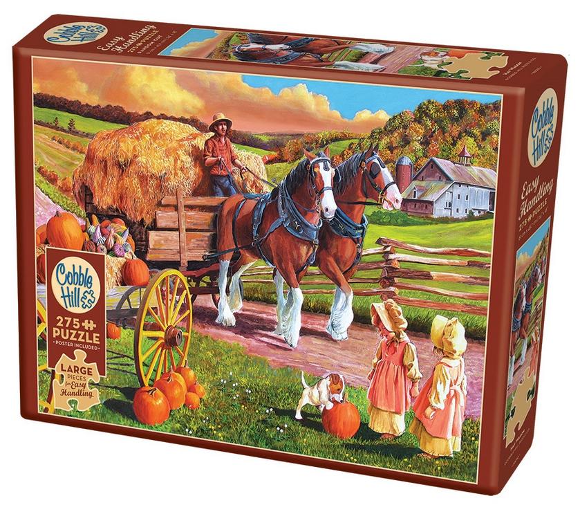 Hay Wagon – puzzel 275 stuks – Cobble Hill 88010