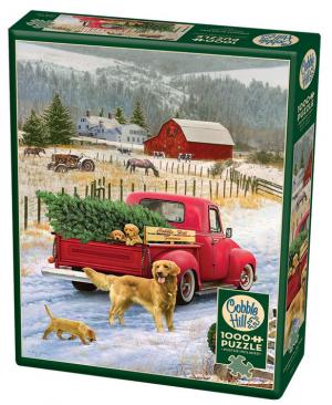 Christmas on the Farm - puzzel 1000 stuks - Cobble Hill 80127