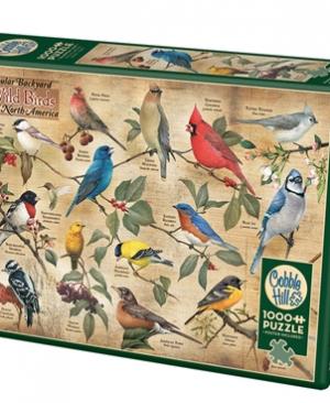 Popular Backyard Wild Birds of North America- puzzel 1000 stuks - Cobble Hill 80024