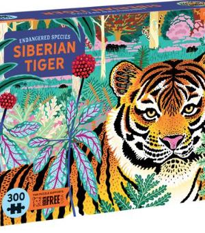 Endangered species, Siberian Tiger - puzzel 300 stuks - Mudpuppy