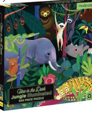 Glow in the dark, Jungle - puzzel 500 stuks - Mudpuppy