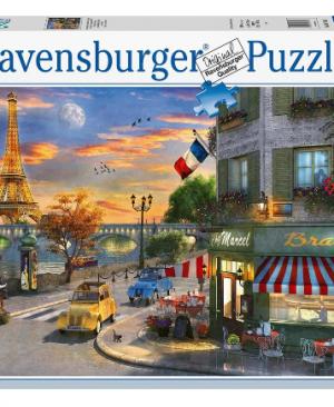 Romantische avond in Parijs -Ravensburger puzzel 2000 stukjes