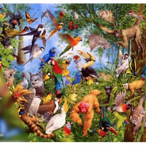 The Wildlife Collection n°1 Tropical Treetops - puzzel 1000 stuks Treeceratops