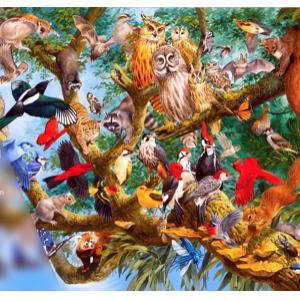 The Wildlife Collection n°2 Temperate Treetops - puzzel 1000 stuks Treeceratops