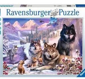 Wolven in de sneeuw 160129 - puzzel 1500 stuks - Ravensburger