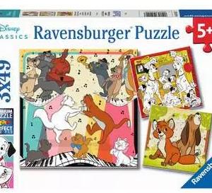 Vrolijke dieren - puzzel 3x49 stuks - Ravensburger 051557