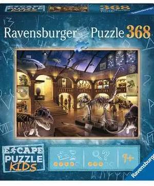 Escape; In het natuurhistorisch museum - puzzel 368 stuks - Ravensburger 129355