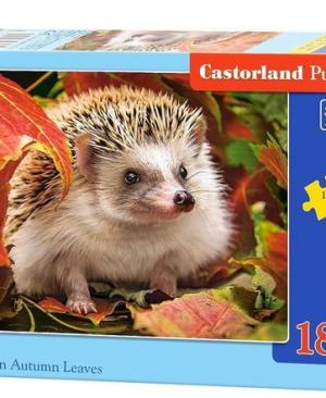Hedgehog in autumn leaves - puzzel 180 stuks - Castorland