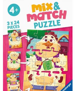 Mijn boerderijvrienden - puzzel 3x24 stuks - Ravensburger 051984