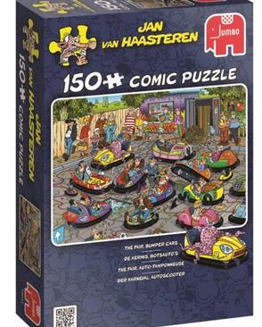 De kermis botsauto's - puzzel 150 stuks - Jan van Haasteren