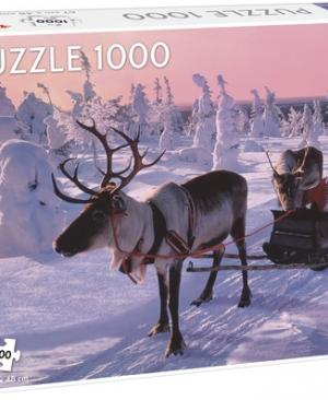 Santa Claus in sleigh - puzzel 1000 stuks - Tactic