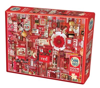 Red - puzzel 1000 stuks - Cobble Hill - 80146