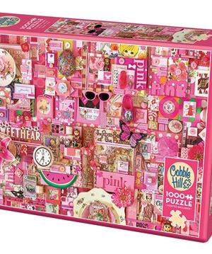 Pink - puzzel 1000 stuks - Cobble Hill - 80145