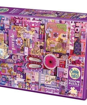 Purple - puzzel 1000 stuks - Cobble Hill - 80151