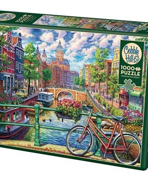 Amsterdam Canal - puzzel 1000 stuks - Cobble Hill - 80180