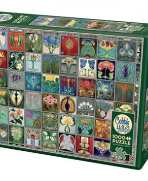 Art Nouveau Tiles - puzzel 1000 stuks - Cobble Hill - 80256