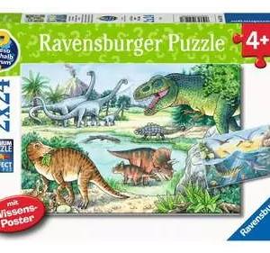 Dinosaurussen en hun leefruimte - puzzel 2x24 stuks - Ravensburger 051281