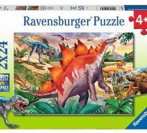 Wilde prehistorische dieren - puzzel 2x24 stuks - Ravensburger 051793