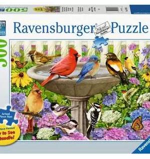Bij het vogelbadje - puzzel 500 stuks - Ravensburger 167937